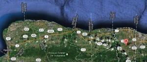 The list also includes designing, building and financing an extension to PR-22 from Hatillo to Aguadilla, at an estimated $906 million. DTOP and the ACT also submitted that project. (Credit: Google Maps)