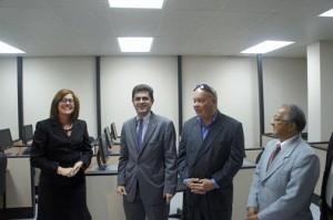 From left: Eastern Region Business Development Center Director Hilda Ivette Santiago, Puerto Rico Trade Executive Director Francisco Chevere, Fajardo Mayor Anibal Meléndez, and Ángel Iglesias, president of the Fajardo Retailers Association.
