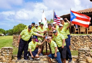The winning team of the first Pasarell Cup Golf tournament at Royal Isabela.