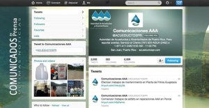 The Puerto Rico Aqueduct and Sewer Authority uses Twitter to interact with residents and convey agency news.
