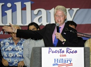 Former President Bill Clinton was in Puerto Rico in May 2008, campaigning for his wife Hillary. (Credit: © Mauricio Pascual)