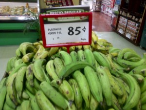Retailer SuperMax is selling plantains at .85 cents a piece this week.