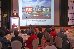 "Ismael Vega, chairman of the PRHTA's board, offers details of the ""PUR Puerto Rico"" platform."