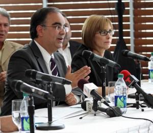 From left: PRHTA Executives Ismael Vega and Clarissa Jiménez