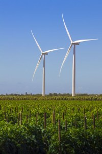 The Santa Isabel Wind Farm sits on a stretch of farmlands along southern Puerto Rico.