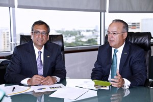 From left: Cassan Pancham, executive vice president and business group director for FirstBank and FirstBank CEO Aurelio Alemán.