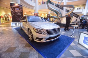 Mercedes-Benz will line up its display along the fountain in front of Macy's, where it will present the new additions to its 2014 luxury offer.