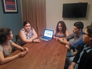 Clockwise from left: Angela Aponte, Michelle Kantrow, Nicole Ortiz, Pablo Venes and Janet Rodríguez.