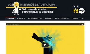 """The CNE launched www.losmisteriosdetufactura.com, a website that promises to solve the """"mystery of the monthly bill"""" and teach consumers """"everything they need to know about their electricity bill."""""""