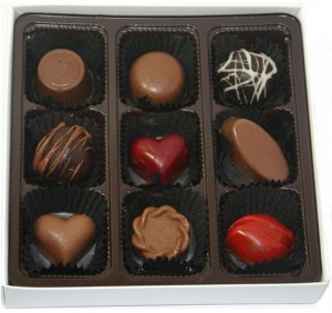 Antique Chocolates sells an assortment of pieces that pair dark, white and milk chocolate with fillings of strawberry balsamic, guava, orange, hazelnut, coconut, peanut butter and honey lime, among others.