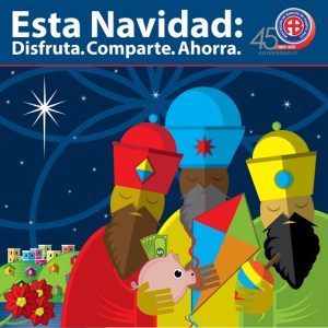 """This Christmas Season: Enjoy. Share. Save"" is this year's slogan."