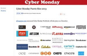 The web-based company put together a list of retailers that will cater to Puerto Rico shoppers, available at http://www.cybermonday.com.pr.