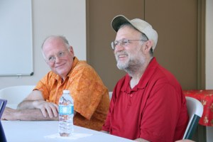 From left: Ben Cohen and Jerry Greenfield during their recent visit to Puerto Rico.