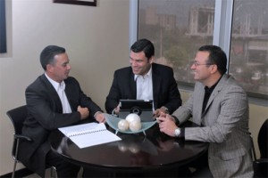 From left: Wallace Rodríguez Parissi; managing partner, Wigberto Marcano; partner, Carlos Vázquez; partner in charge of audit and consulting Services for HLB Parissi.