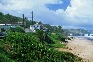 Rugged Atlantic coastline at Bathsheva, Barbados. (Credit: Larry Luxner)