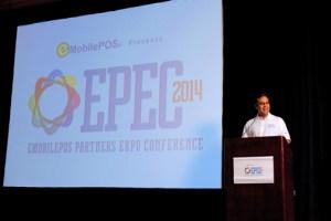 Joel Vázquez, president of e- Nabler speaks during a weekend conference.