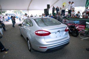 The 2014 Ford Fiesta S auctioned off during the Antique Cars Fair.