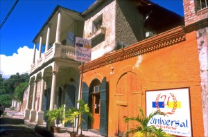 Graceful colonial buildings in Jacmel, along Haiti's southern coast. (Credit: Larry Luxner)