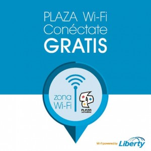 Plaza's free Wi-Fi service will allow mall-goers to access the Internet at high speeds.