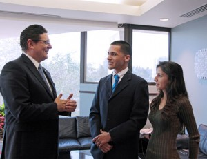 From left: Antonio Medina, Emmanuelle Vargas, and Cristina Santana.