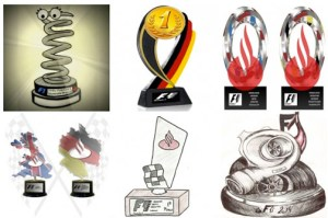 Several of the trophy designs already submitted.