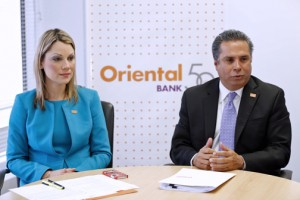 From left: Luana Santos, Oriental's VP of sales, products and consumer credit, and Félix Silva, senior VP of individual and corporate banking.