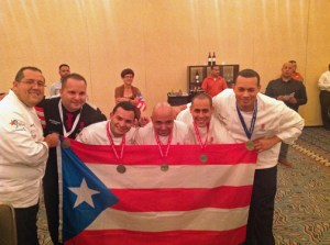 Winning members of the Puerto Rico National Culinary team.