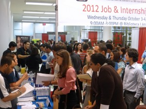 Prior job fairs have drawn dozens of students looking to match their skills with potential employers.
