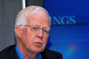 Barry Bosworth is a senior fellow at the Brookings Institution's economic studies program. (Credit: Larry Luxner)