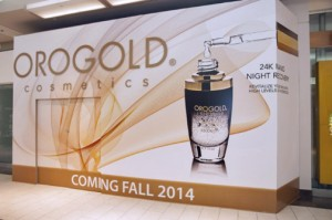 Orogold Cosmetics will occupy a 1,000 square-foot space also on the first level, close to JCPenney and Macy's.