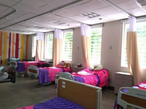 The Children's Hospital renovation was a two-phase project that included the main room and the bathroom.