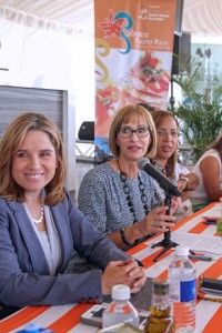 "From left: San Juan Mayor Carmen ""Yulín"" Cruz, PRHTA President Clarisa Jiménez and Maritere Colón, legal advisor at the Puerto Rico Tourism Company."
