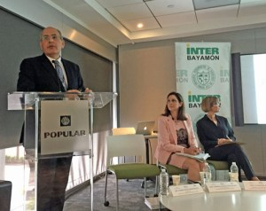 Francisco Montalvo-Fiol, Coordinator for WEF through one of its partners institutes on the island, Puerto Rico Tourism Company Executive Director Ingrid Rivera-Rocafort and Puerto Rico Hotel and Tourism Association CEO Clarissa Jiménez discuss the WEF report's results.