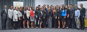 Twenty-six Puerto Rican students and two foreign students, from Spain and from the People's Republic of China, will be taking part in the internship program this year, GDB President Melba Acosta (center) said.