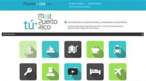 The muevetuisla.com website seeks to inform visitors of Meet Puerto Rico's work.
