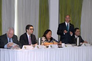 From left: CPA Kermit Lucena, Julio Cabral, Melba Acosta, José Vázquez-Barquet and Ángel Rosa.