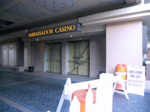 The Radisson Ambassador Plaza Hotel & Casino, which closed down in April, but could could find a buyer soon.