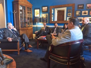 Members of the Puerto Rico Private Sector Coalition meet with Congressman Richie Neal during this trip to D.C.