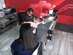 RocketFix offers same-day repair work, based on an evaluation of the equipment, while the customer waits in the store.