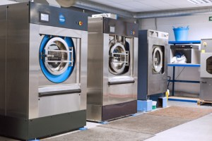 The Xeros laundry system replaces 80 percent of the water with polymer beads that gently massage textiles.