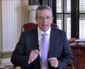 Gov. Alejandro García-Padilla delivers a televised message to unveil the proposed budget for next fiscal year.