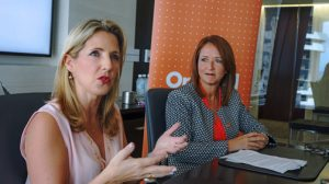 From left: Oriental executives Alexandra López-Soler and Elena Manrara-Goyco.