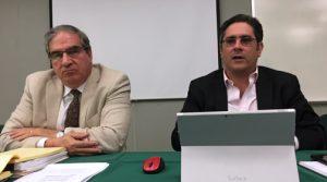 Economists Association President Juan Villeta-Trigo and Economist and Professor Antonio Fernós-Sagebién.