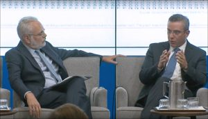 David Wessel, director of the Hutchins Center on Fiscal and Monetary Policy, moderates a discussion at Brookings with Puerto Rico Gov. Alejandro García-Padilla.