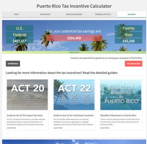 "The free ""Tax Incentive Calculator"" provides information with less than 10 questions."