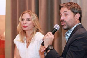 Animus event Co-founders Lucienne Gigante and Carlos Cobián.