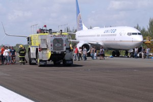 The exercise flight was identified as United #1719X traveling from Newark, New Jersey to San Juan.