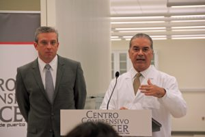 Gov. García-Padilla and Luis Clavell, executive director of the state-of-the-art hospital during Thursday's walk-through.