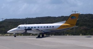 An interCaribbean Airways EMB 120 aircraft.