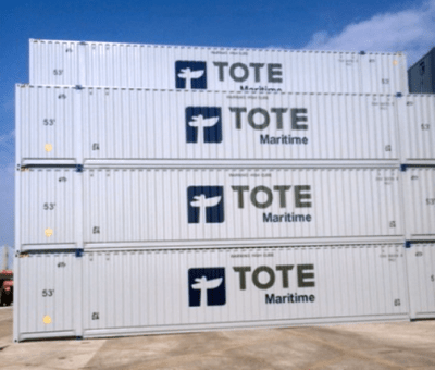 In the last few months, TOTE Maritime has secured more than 200 additional 53' containers, leased an additional 500 chassis and distributed 75 new gen sets for customers in Puerto Rico.